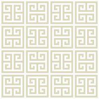 Greek Key Taupe Wallpaper | Modern Decor | Jonathan Adler