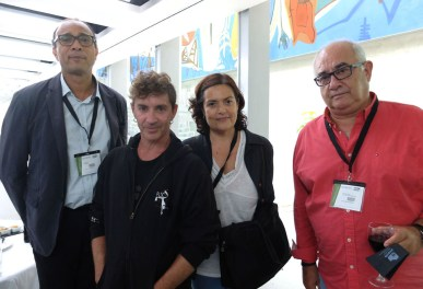 Serge Borras (Grainerie), Johnny Torres (Central del circ), Ester Campabadal (Generalitat de Catalunya), Félix de la Sierra (Escola Rogelio Rivel)