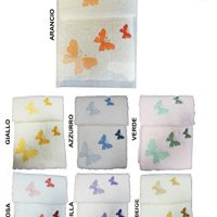 Lovely Home-Set de Toalla de Baño de Acogida Déco Mariposa Made In Italy Mariposas