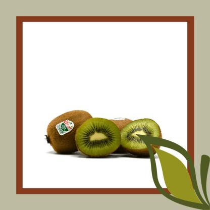halfopen kiwi groen