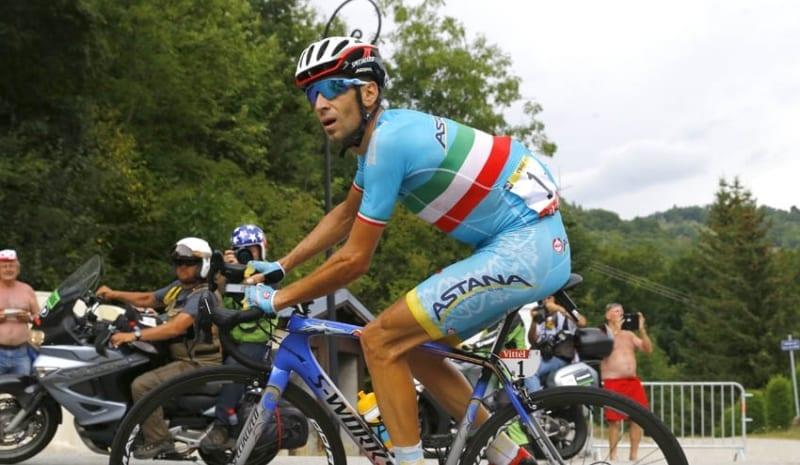 Nibali durante la penúltima etapa del Giro de Italia