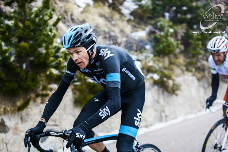 Chris Froome en la Volta a Catalunya
