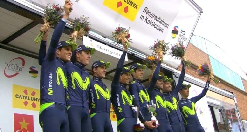 Movistar ganó la contrarreloj por equipos de la Volta a Catalunya