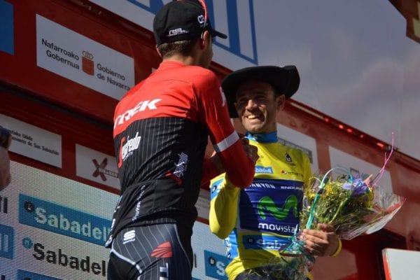 Contador en el podio de la Vuelta al País Vasco