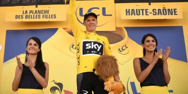 Froome vestido de amarillo en el Tour de Francia 2017
