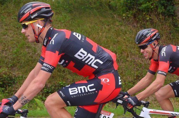 Damiano Caruso y Richie Porte en el Tour de Francia