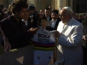 Peter Sagan y el Papa Francisco