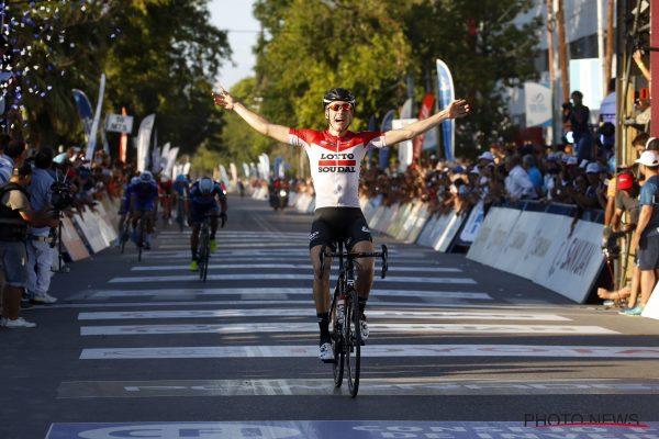 Wallays ganando en el Tour de San Juan