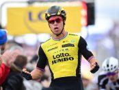 Dylan Groenewegen ganando la 2ª etapa de la París - Niza