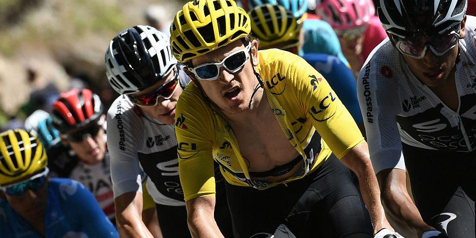 Geraint Thomas con el amarillo