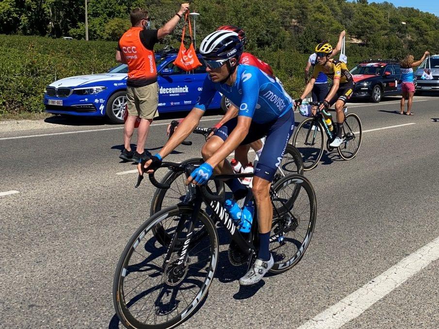 Enric Mas en el Tour de Francia con Movistar