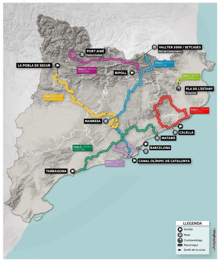 Mapa Volta a Catalunya 2021
