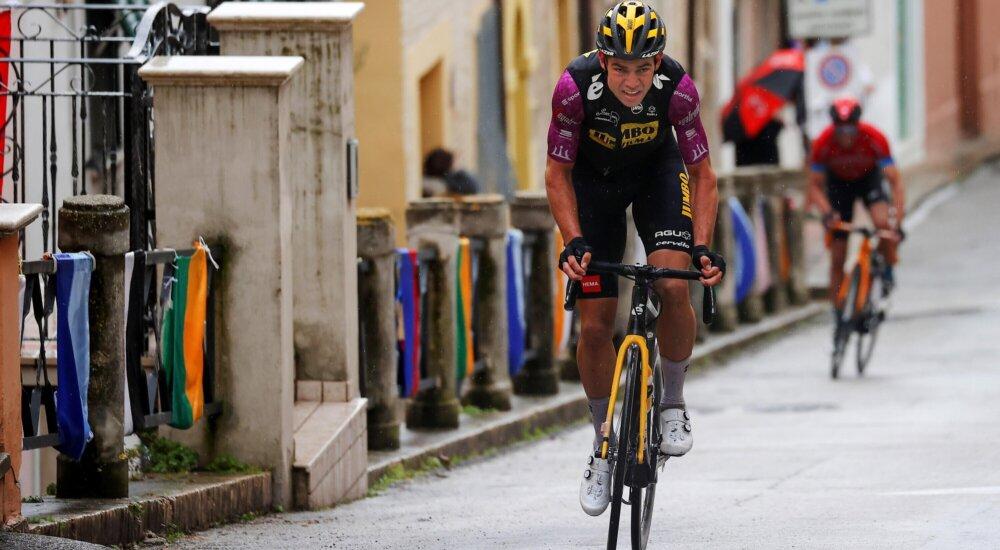 Van Aert en la quinta etapa de la Tirreno - Adriático