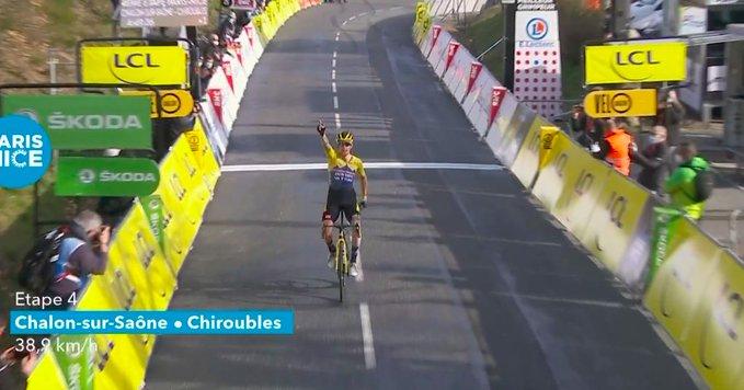 Roglic gana la cuarta etapa París - Niza