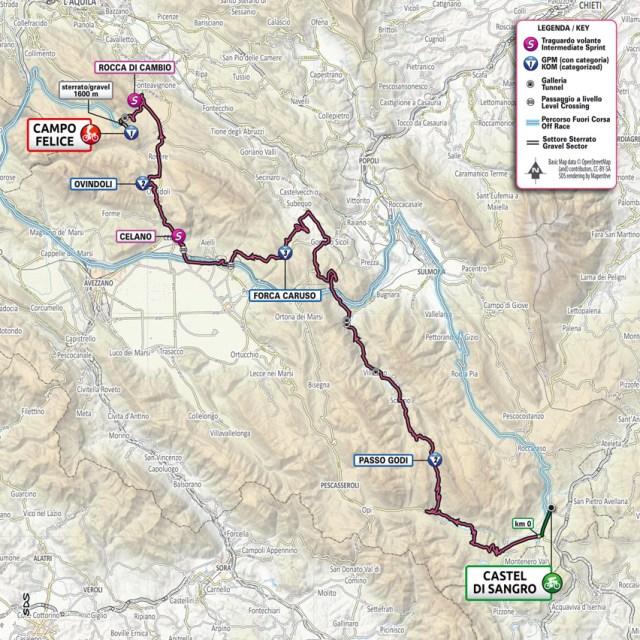 Planimetría etapa 9 Giro de Italia