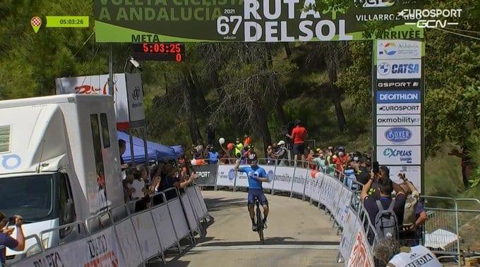 Miguel Ángel López gana la tercera etapa de la Vuelta a Andalucía