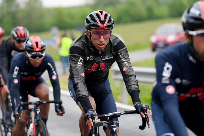 Egan Bernal en la tercera etapa del Giro de Italia