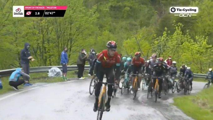 Ataque de Mikel Landa en la cuarta etapa del Giro de Italia