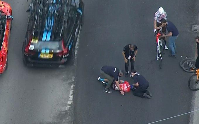 Mikel Landa caída Giro de Italia