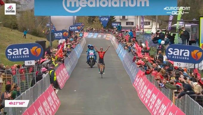 Damiano Caruso gana la 20ª etapa del Giro de Italia