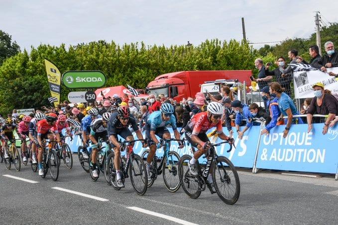 Nairo Quintana en la primera etapa del Tour de Francia