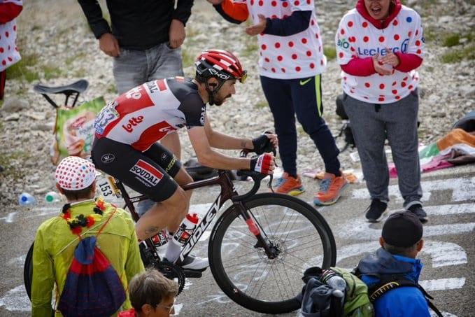 Thomas De Gendt en el Mont Ventoux