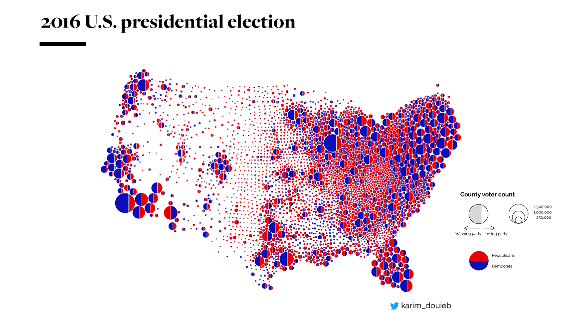Land Doesn\'t Vote, People Do: This Electoral Map Tells the ...