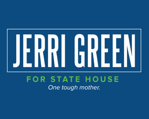 Logo for Jerri Green campaign.