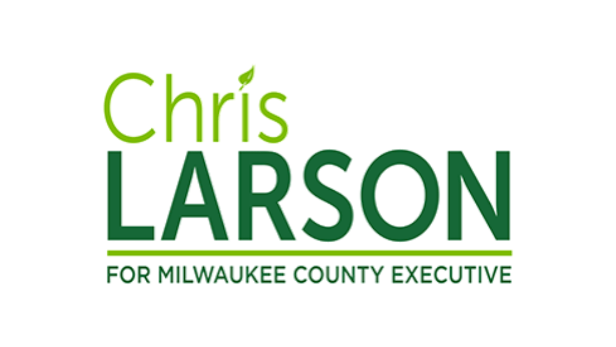Logo for Chris Larson campaign.