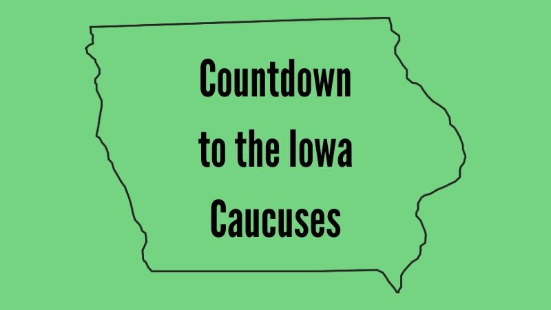 "Text: ""Countdown to the Iowa Caucuses"""
