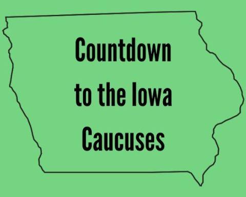 "Text: ""Countdown to the Iowa Caucuses"""