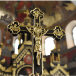 Gold and black crucifix