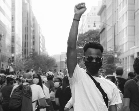 Protester at Black Lives Matter protest in Washington DC