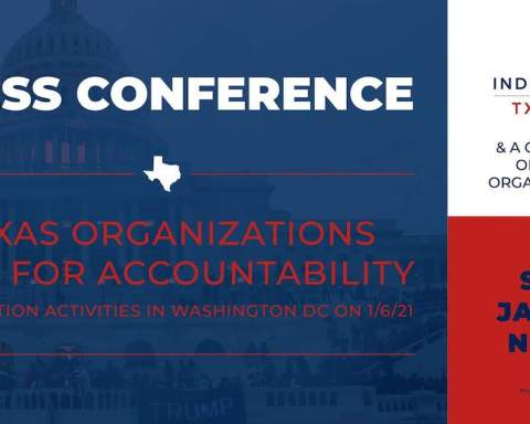 Press conference calling for accountability for TX officials