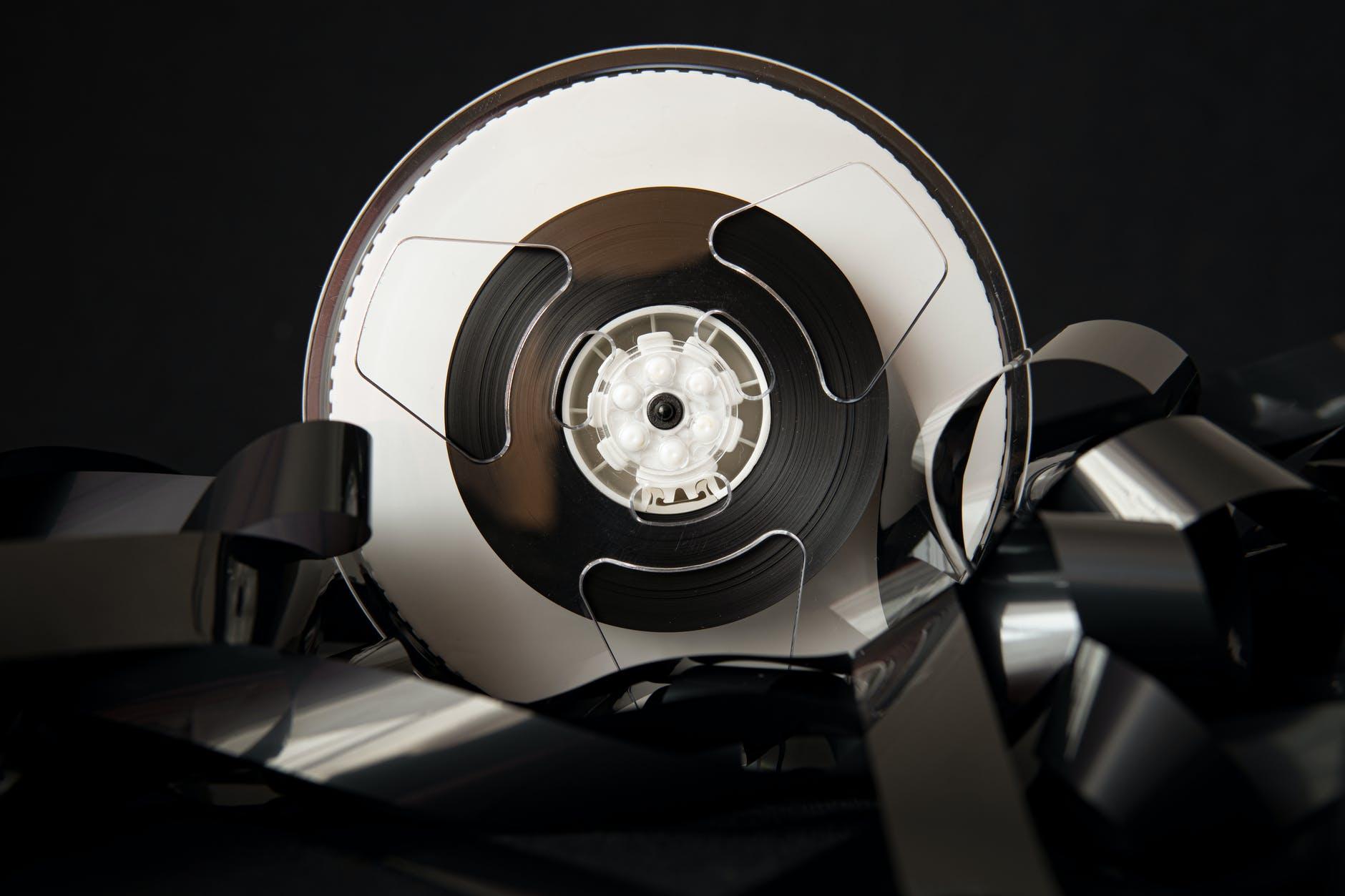 retro plastic bobbin with film