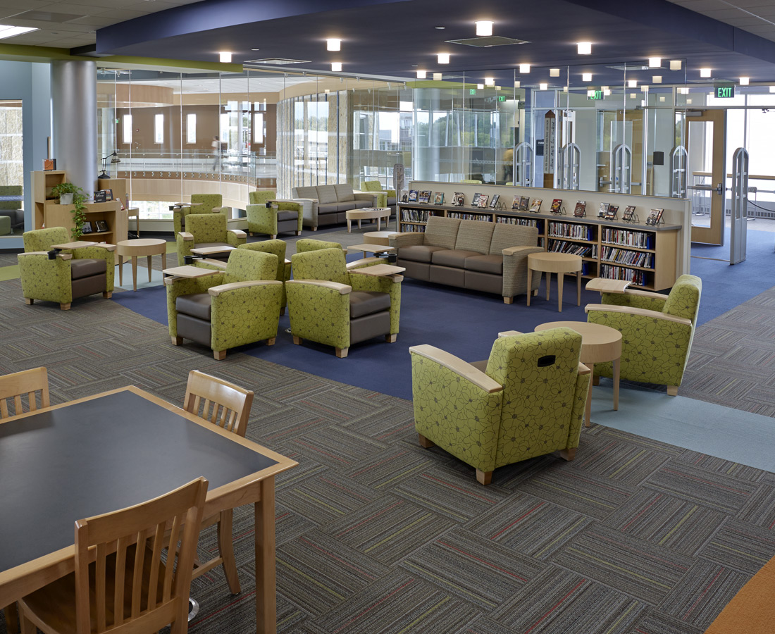 College Lounge Chair Library Design For Mobile Device Users
