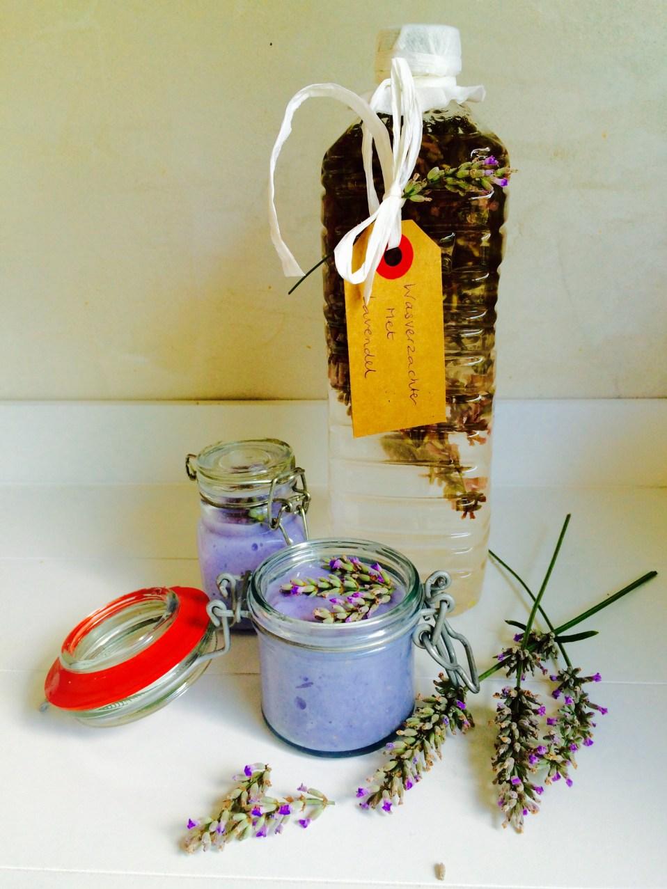 luchtverfrisser van lavendelolie maken