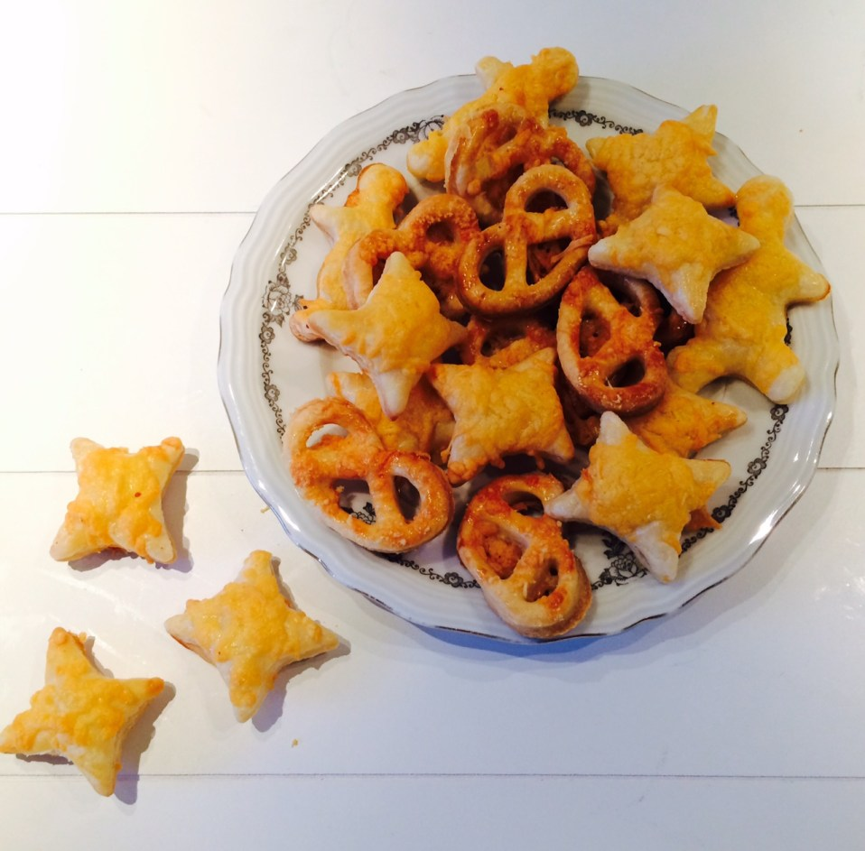 zoute bladerdeeg koekjes