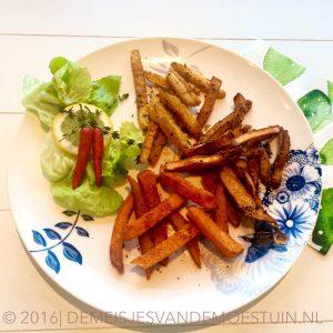 Drie soorten Groentefriet