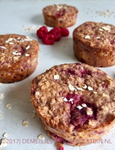havermout frambozen muffins