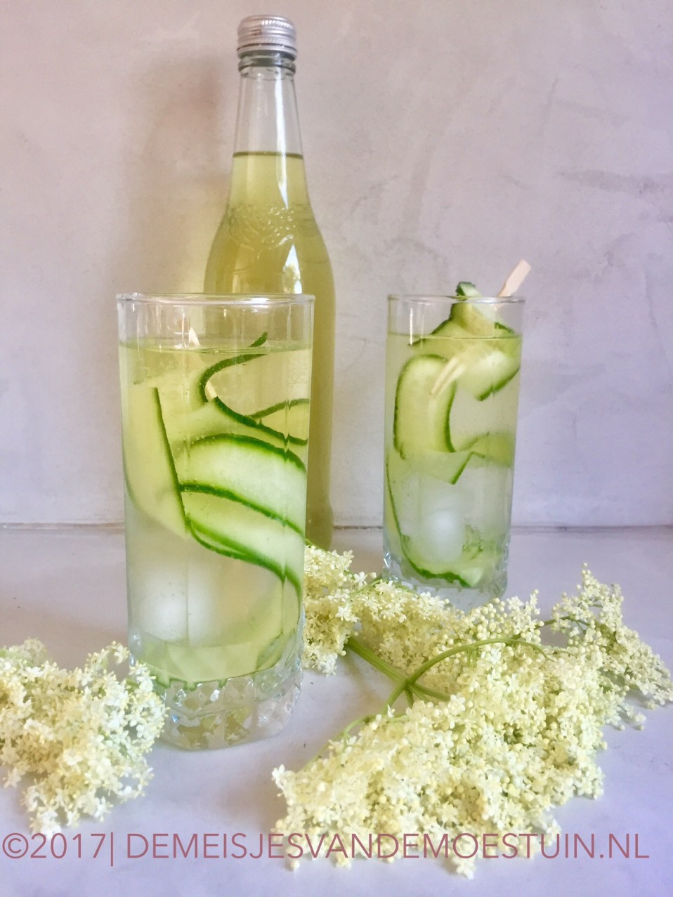 vlierbloesem infused gin