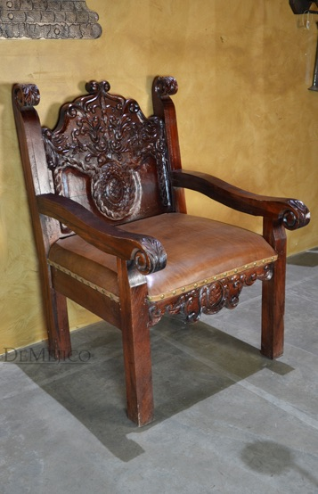 Small Upholstered Bedroom Chair Spanish Revival Chair - Demejico