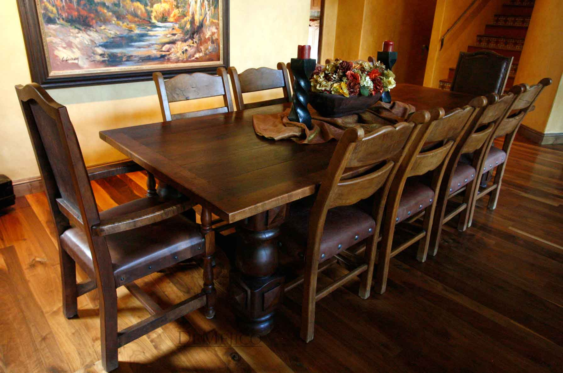 mexican dining room table and chairs chairman spanish style home demejico