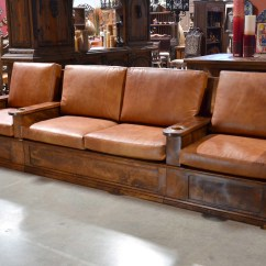 Custom Made Sofas Darie Leather Sectional Sofa With Left Side Chaise Spanish Hacienda Style Or Mexican Carved Pine