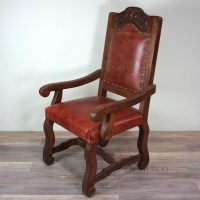 Spanish Leather Dining Chairs, Silla Amplia with Arms ...