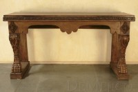 Old World Carved Console Table - Demejico