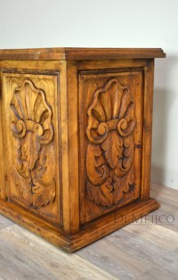 Carved Colonial Desk, Old World Furniture - Demejico