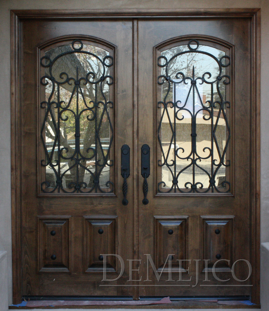 wrought iron dining chairs gaming for pc india double puerta avan, entry doors - demejico