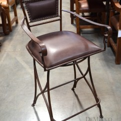 Swivel Chair In Spanish Bunnings Stackable Covers Iron Bar Stool Roma Barstool