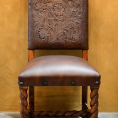 Living Room Footstool Furniture Ideas India Tooled Leather Dining Chairs, Silla Chapital - Demejico